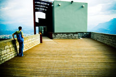 Mountain View de uma plataforma elevada Fotografia de Stock Royalty Free