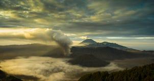 Mountain View de volcan Images stock