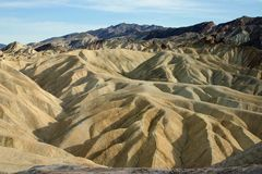 Mountain view in death valley Stock Images