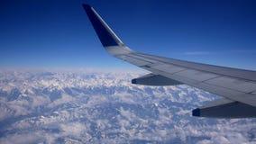 Mountain View del avión almacen de metraje de vídeo