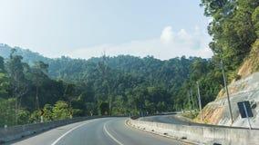 Mountain View del camino y Foto de archivo libre de regalías