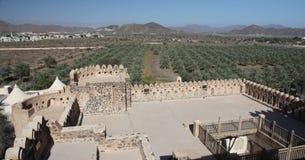 Mountain View del castillo de Jabreen Fotografía de archivo