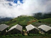 Mountain View del clound e del cielo blu Immagini Stock Libere da Diritti