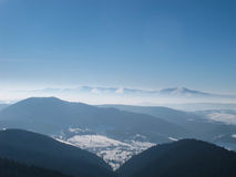 Mountain View del invierno Imagen de archivo