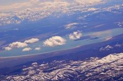 Mountain View del lago Arial Fotografia Stock Libera da Diritti