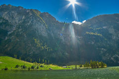 Mountain View del lago Konigsee Fotografia Stock