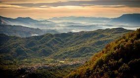 Mountain View del santuario de Mentorella Imágenes de archivo libres de regalías