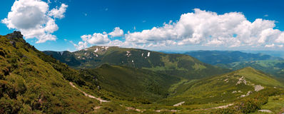 Mountain View del verano Imagen de archivo