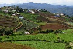 Mountain View del villaggio rurale Immagine Stock Libera da Diritti