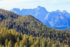 Mountain View dell'alpe Immagine Stock Libera da Diritti