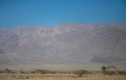 Mountain View della Giordania dal walley del negev immagini stock