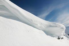 Mountain View della neve Immagini Stock