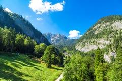 Mountain View delle alpi da Salzberg Immagini Stock Libere da Diritti