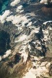 Mountain View delle alpi dal cielo Fotografia Stock Libera da Diritti