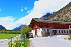 Mountain View delle alpi Svizzera Immagini Stock Libere da Diritti