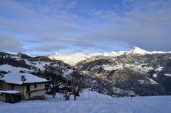 Mountain View dello Snowy Fotografia Stock