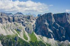 Mountain View di Alta Badia da Seceda, Italia Immagine Stock Libera da Diritti