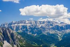 Mountain View di Alta Badia da Seceda, Italia Immagini Stock