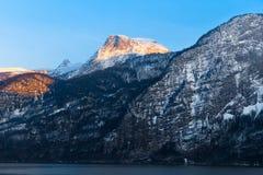 Mountain View di Hallstatt Fotografia Stock Libera da Diritti