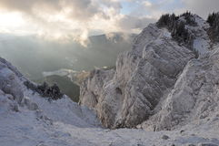 Mountain View di inverno Immagine Stock