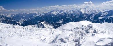 Mountain View di inverno immagine stock libera da diritti