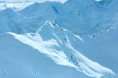 Mountain View di inverno (Austria) Fotografie Stock Libere da Diritti