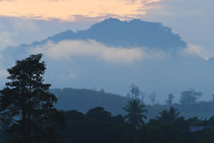 Mountain View di mattina Immagini Stock