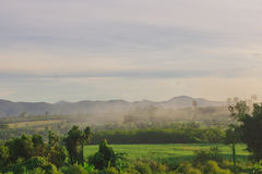 Mountain View di mattina Fotografia Stock Libera da Diritti