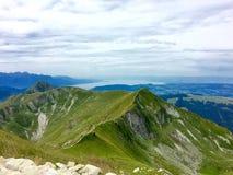 Mountain View di Moleson Friburgo Svizzera Fotografia Stock Libera da Diritti