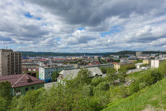Mountain View di Murmansk Immagini Stock