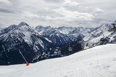 Mountain View di Penkenjoch in Austria, 2015 Immagine Stock