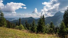 Mountain View di Tatry e trekking Czerwone Wierchy Immagini Stock Libere da Diritti