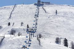 Mountain View di Uludag La montagna di Uludag è stazione sciistica della Turchia fotografie stock