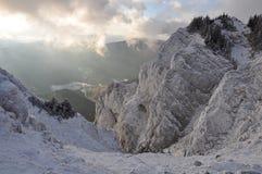 Mountain View do inverno Imagem de Stock