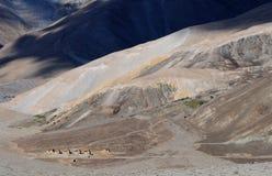 Mountain View do Tso de Pangong Fotografia de Stock Royalty Free