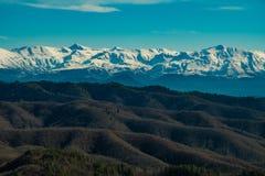 Mountain View do zagorochoria da vila do tsepelovo em Epirus Grécia Fotos de Stock Royalty Free