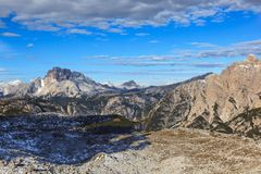 Mountain view at Dolomites. View in Drei Zinnen Nature Park Stock Photography