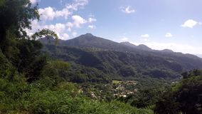 Mountain View, Dominica almacen de video