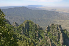 Mountain View du Nouveau Mexique Sandia Photos stock