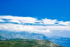 Mountain View Dubornik Kroatien Lizenzfreie Stockfotos