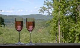 Mountain View e bevande Immagine Stock Libera da Diritti