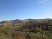 Mountain View e cielo blu immagine stock libera da diritti