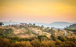 Mountain View e della collina Fotografia Stock