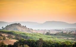 Mountain View e della collina Fotografie Stock