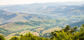 Mountain View. Early autumn. Ukraine Stock Images