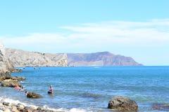 Mountain View em Crimeia Fotografia de Stock