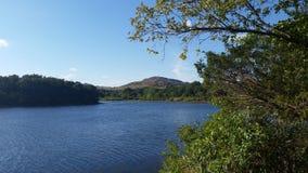 Mountain View em Quanah Parker Lake fotos de stock