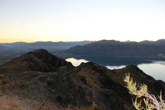 Mountain View em Zealand Nee fotos de stock