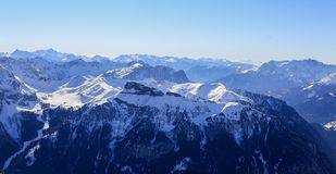 Mountain View en dolomites Photographie stock libre de droits