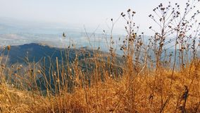Mountain View en el tiempo del día Fotos de archivo